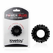 Power Plus Anel Peniano com Relevo - Preto - Lovetoy