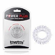 Power Plus Anel Peniano com Relevo - Transparente - Lovetoy